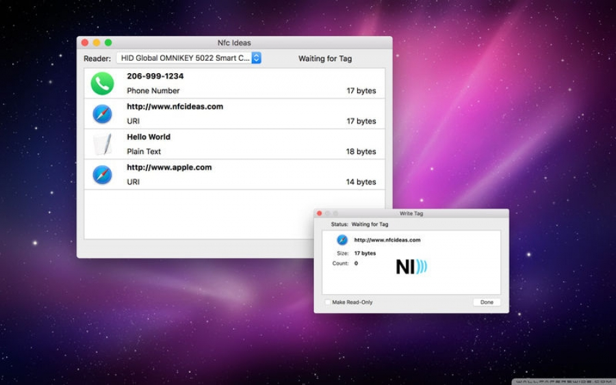 NFC Ideas: ecco come leggere e scrivere Tag NFC con Mac