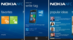 Alcuni screenshot dell'app Nokia NFC Writer